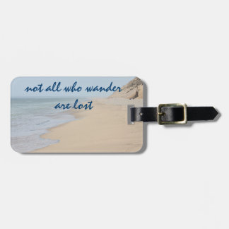 Beach photo luggage tag