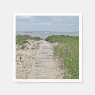 Beach photo paper napkin