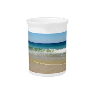 Beach photo drink pitcher