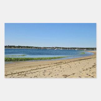 Beach photo rectangular sticker