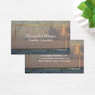 Beach Photo with Grunge, Rustic Texture Overlay Business Card