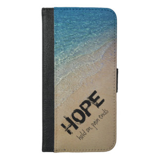 Beach Photo with Inspirational Quote - HOPE iPhone 6/6s Plus Wallet Case