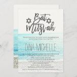 "beach photography Bat Mitzvah typography Invitation<br><div class=""desc"">A modern, beach photography Bat Mitzvahy typography party invitation .</div>"
