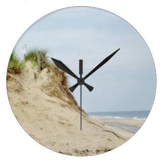 Beach photography large clock
