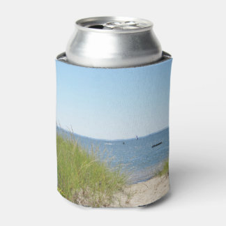 Beach photography on can cooler