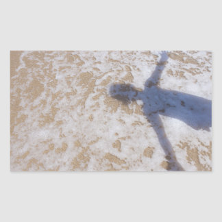 Beach Photography Sea foam and girl's shadow Sticker
