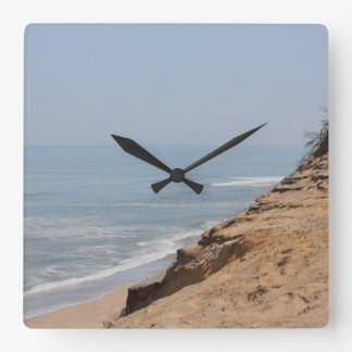 Beach photography square wall clock