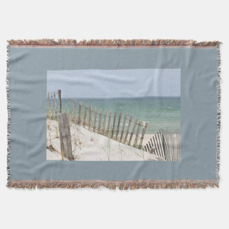 Beach photography throw