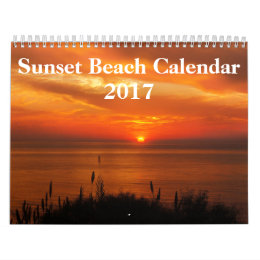 Beach Pictures at Sunset 2017 Calendar