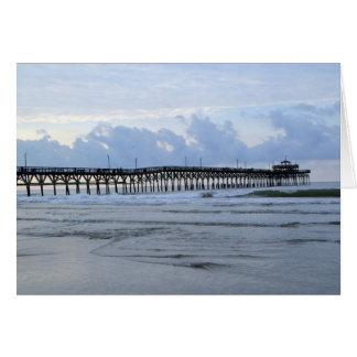 Beach Pier Note Card