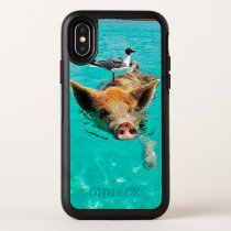 Beach pig - water pig OtterBox symmetry iPhone x case