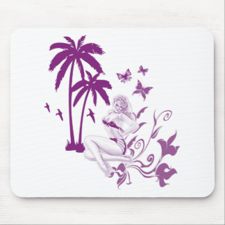 Beach Pin-Up Mouse Pad
