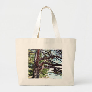 Beach Pine Large Tote Bag