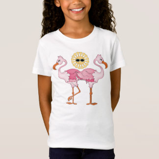 Beach pink Flamingo girls cute t-shirt