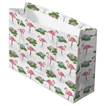 Beach Themed beach Pink Flamingo pattern party gift bag
