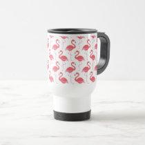 Beach pink Flamingo pattern travel mug