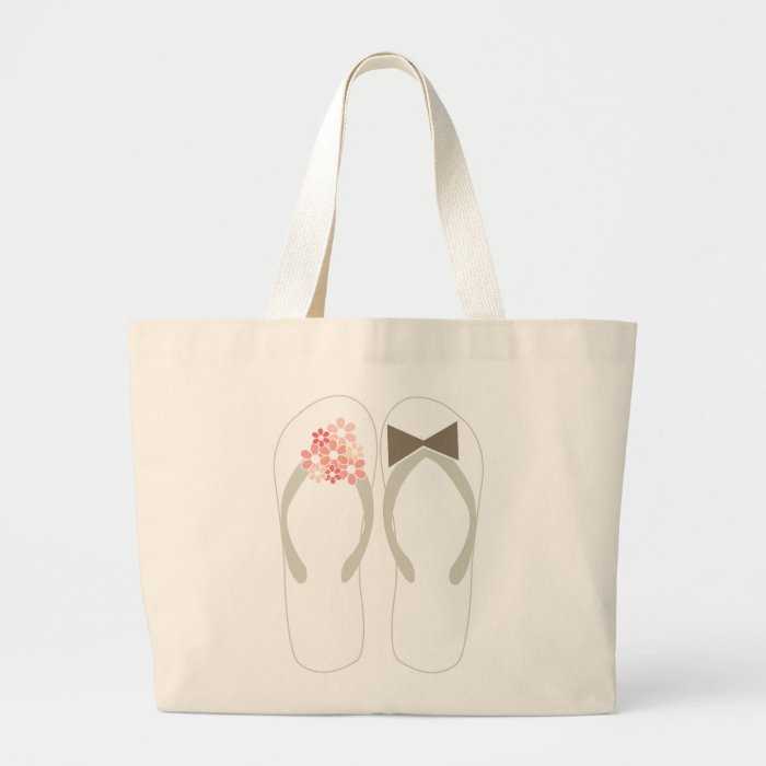 Wedding Gift Bags Printed : Beach Pink Flip Flops Custom Wedding Gift Bag Zazzle