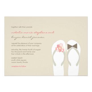 474 Flip Flop Wedding Invitations Flip Flop Wedding Announcements Inv