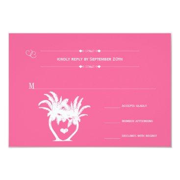 Beach Themed Beach Pink Palm Tree Destination Chalkboard Card