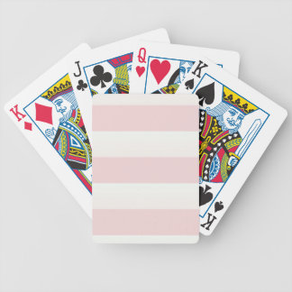 Beach Pink Stripe Bicycle Playing Cards