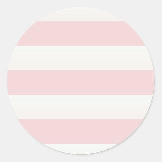 Beach Pink Stripe Classic Round Sticker
