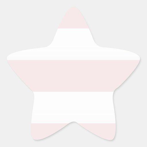 Beach Pink Stripe Star Sticker