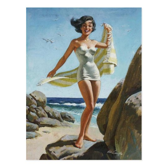 Image result for beach pinup