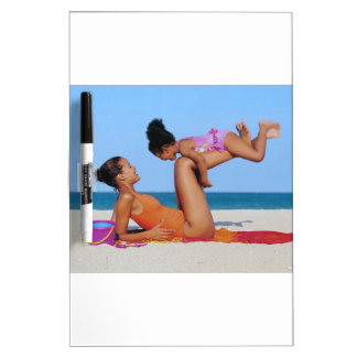 Beach Play With Mom Dry-Erase Board