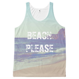 Beach Please All-over-print Tank Top at Zazzle