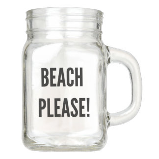 Beach please bachelorette shower bridesmaids funny mason jar