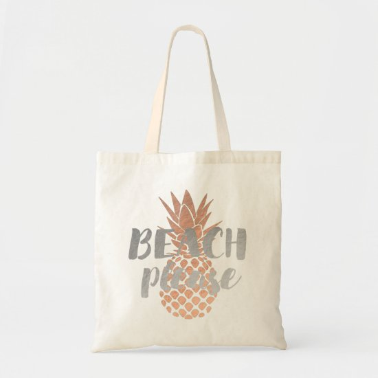 beach please calligraphy tote bag