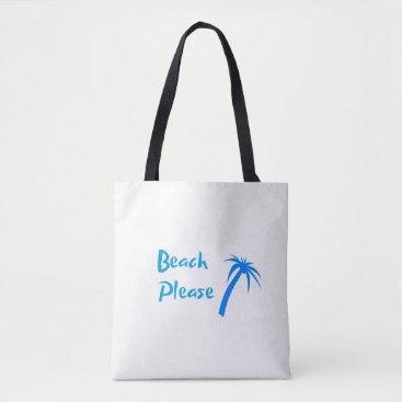 Beach Please Custom All-Over-Print Tote Bag