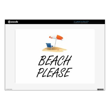 Beach Themed Beach Please Decal For Laptop
