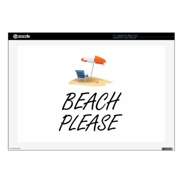 Beach Themed Beach Please Decals For Laptops