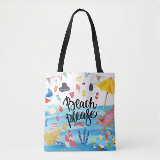 Beach Please Bags & Handbags | Zazzle