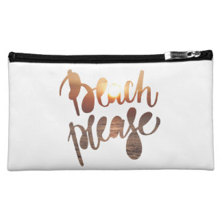 BEACH PLEASE, fun quote - Cosmetic Bag