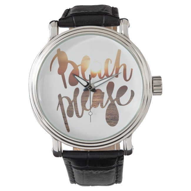 BEACH PLEASE | Fun Typography & Quote Watch