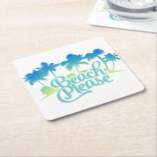 Beach Please Funny Quote Coasters
