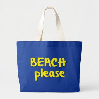 Beach Please Large Tote Bag
