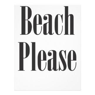 Beach Please Letterhead