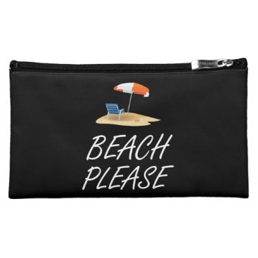 Beach Themed Beach Please Makeup Bag