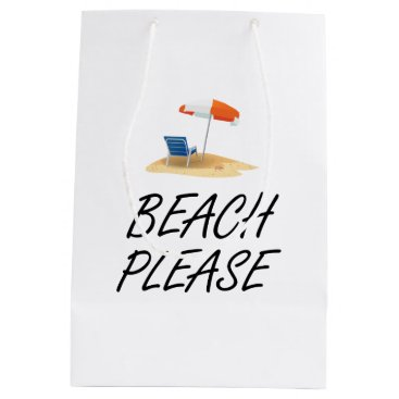 Beach Please Medium Gift Bag