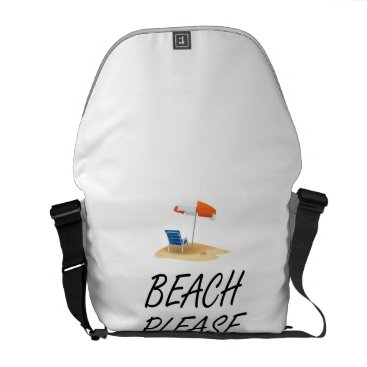 Beach Themed Beach Please Messenger Bag
