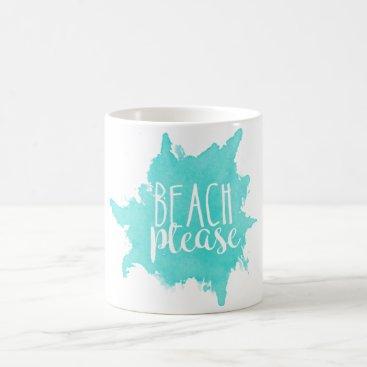 Beach Themed Beach Please Mug