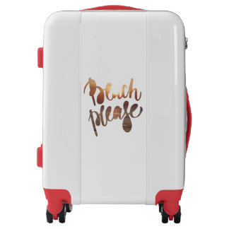 BEACH PLEASE, photo with funny quote Luggage