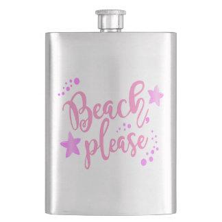 Beach please pink flask