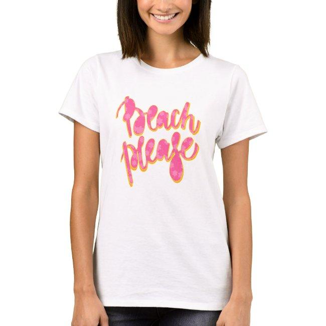 BEACH PLEASE | Pink & Orange Typography & Quote