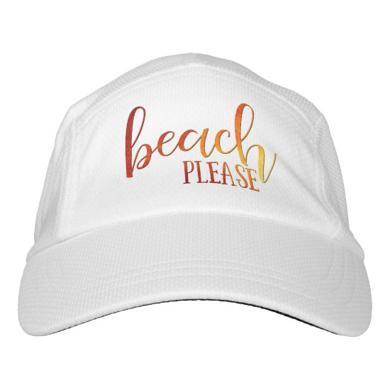 """""""beach please"""" sunset ombre typography hat"""