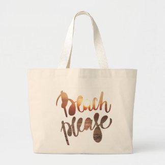 BEACH PLEASE TOTE BAG, photo with funny quote