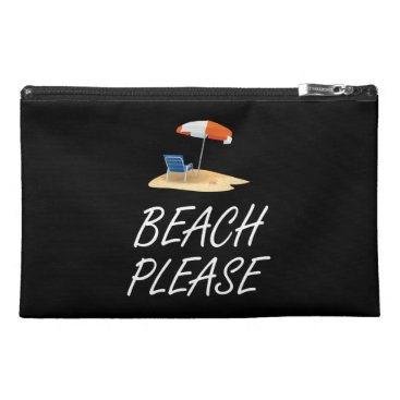 Beach Themed Beach Please Travel Accessories Bags
